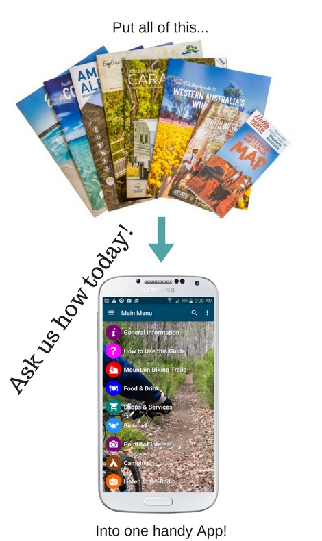 Photo showing how you can replace printed material with ONE handy App